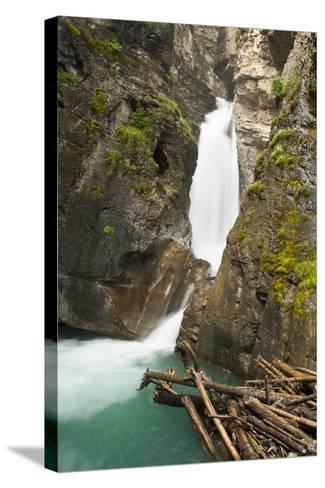 Johnston Falls and Creek, Johnston Canyon, Banff National Park, Alberta, Canada-Michel Hersen-Stretched Canvas Print