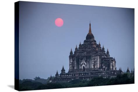 Myanmar, Bagan. Sunset on Thatbyinnyu Temple-Jaynes Gallery-Stretched Canvas Print