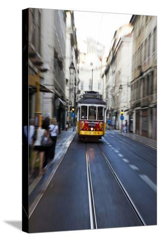 Portugal, Lisbon. Famous Old Lisbon Cable Car-Terry Eggers-Stretched Canvas Print