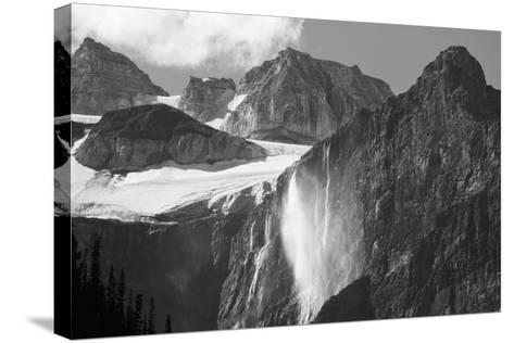 Glacial Waterfall, Rocky Mountains, Moraine Lake Area, Banff National Park, Alberta, Canada-Michel Hersen-Stretched Canvas Print