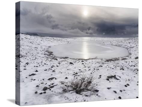 Skaftafelljokull Glacier with its Glacial Moraine in Vatnajokull During Winter-Martin Zwick-Stretched Canvas Print