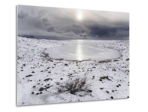 Skaftafelljokull Glacier with its Glacial Moraine in Vatnajokull During Winter-Martin Zwick-Metal Print