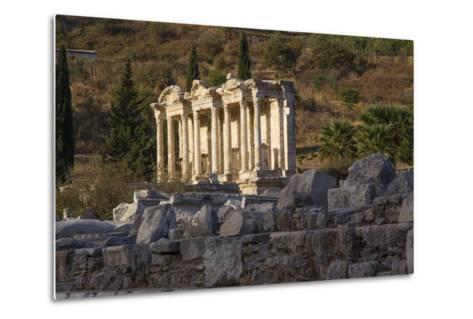 Turkey, Izmir, KUSAdasi. Ephesus, the Temple of Artemis-Emily Wilson-Metal Print