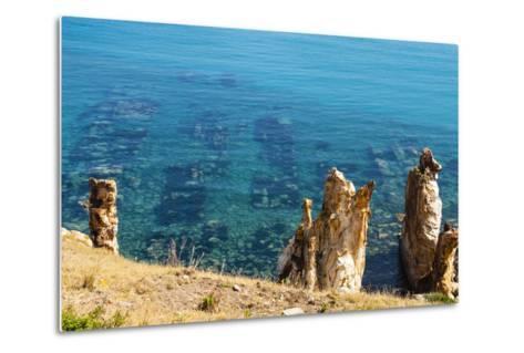 Ruins Underwater of Roman Houses, Les Aiguilles, Tabarka, Tunisia, North Africa-Nico Tondini-Metal Print