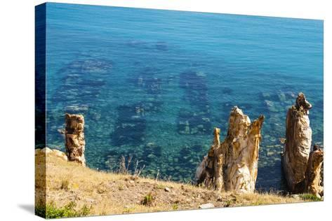 Ruins Underwater of Roman Houses, Les Aiguilles, Tabarka, Tunisia, North Africa-Nico Tondini-Stretched Canvas Print