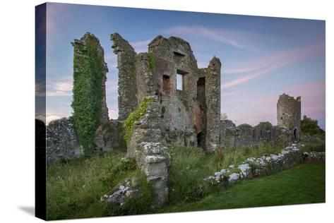 Ruins of Original Crom Castle, County Fermanagh, Northern Ireland, Uk-Brian Jannsen-Stretched Canvas Print