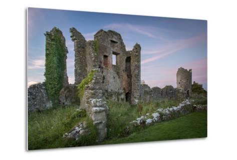 Ruins of Original Crom Castle, County Fermanagh, Northern Ireland, Uk-Brian Jannsen-Metal Print