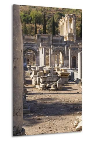 Turkey, Izmir, KUSAdasi. the Ruins of Ephesus-Emily Wilson-Metal Print