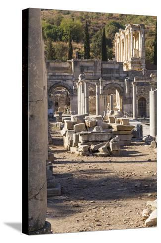 Turkey, Izmir, KUSAdasi. the Ruins of Ephesus-Emily Wilson-Stretched Canvas Print