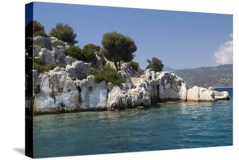 Turkey, Kas, Kekova, Dolichiste, Is a Small Turkish Island Near Demre District of Antalya Province-Emily Wilson-Stretched Canvas Print