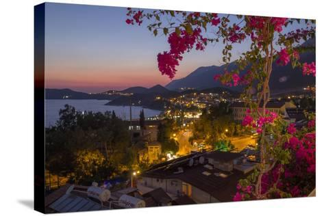 Turkey, Kas. Sunset over Kas-Emily Wilson-Stretched Canvas Print