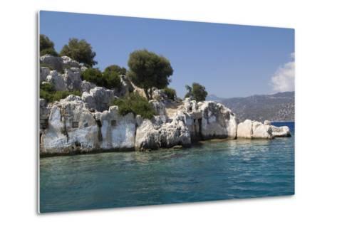 Turkey, Kas, Kekova, Dolichiste, Is a Small Turkish Island Near Demre District of Antalya Province-Emily Wilson-Metal Print