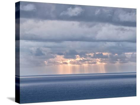USA, California, San Diego. Sun's Rays Break Through Clouds over Pacific Ocean-Ann Collins-Stretched Canvas Print