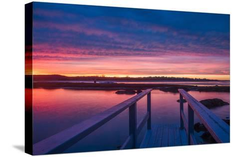 USA, Massachusetts, Cape Ann, Gloucester, Sunset on the Annisquam River-Walter Bibikow-Stretched Canvas Print