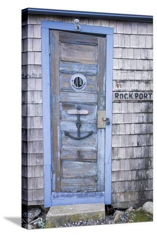 USA, Massachusetts, Cape Ann, Rockport, Fishing Shack-Walter Bibikow-Stretched Canvas Print