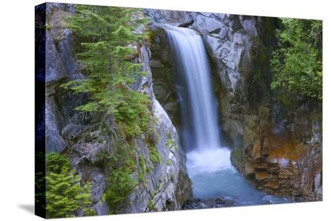 Washington, Mount Rainier National Park. Christine Falls Scenic-Jaynes Gallery-Stretched Canvas Print