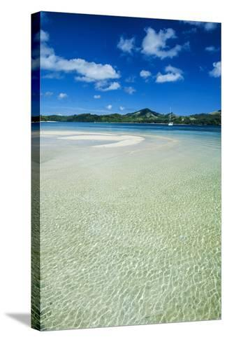 Turquoise Water at the Nanuya Lailai Island, the Blue Lagoon, Yasawa, Fiji, South Pacific-Michael Runkel-Stretched Canvas Print