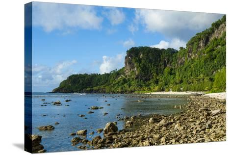 Pretty Bay and Turquoise Water in Tau Island, Manuas, American Samoa, South Pacific-Michael Runkel-Stretched Canvas Print