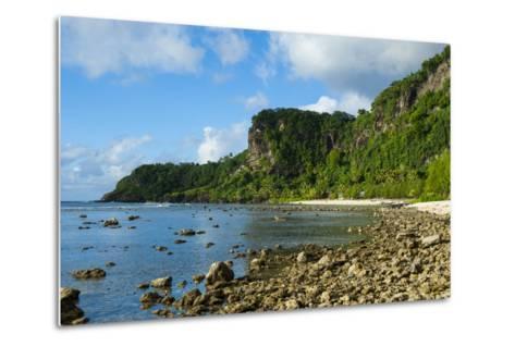 Pretty Bay and Turquoise Water in Tau Island, Manuas, American Samoa, South Pacific-Michael Runkel-Metal Print