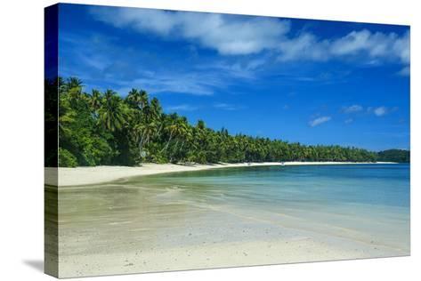 White Sand Beach and Turquoise Water at the Nanuya Lailai Island, the Blue Lagoon, Yasawa, Fiji-Michael Runkel-Stretched Canvas Print