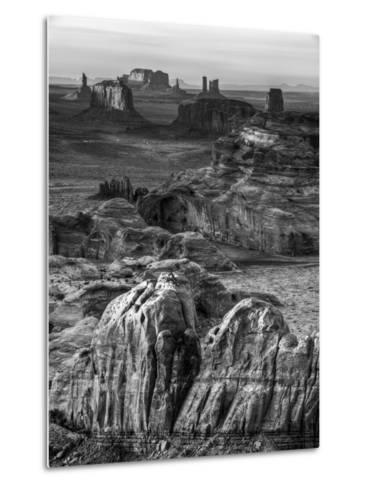 USA, Arizona, Monument Valley. Sunset View from Hunt's Mesa-Ann Collins-Metal Print
