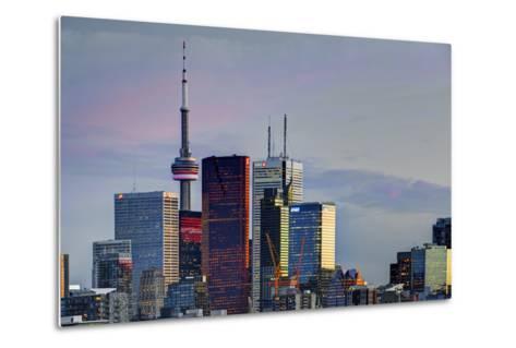 Toronto Skyline at Dusk-Brad Smith-Metal Print