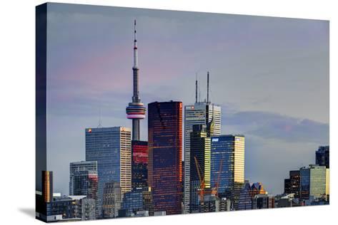Toronto Skyline at Dusk-Brad Smith-Stretched Canvas Print
