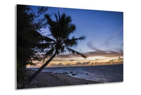Beach Outside Rumours Luxury Villas 6 and 7, Muri, Rarotonga, Cook Islands, South Pacific, Pacific-Matthew Williams-Ellis-Metal Print