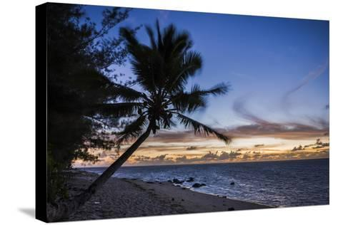 Beach Outside Rumours Luxury Villas 6 and 7, Muri, Rarotonga, Cook Islands, South Pacific, Pacific-Matthew Williams-Ellis-Stretched Canvas Print