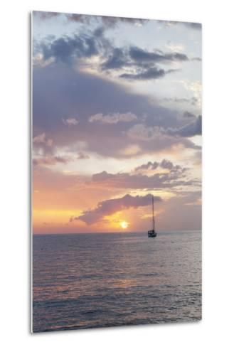 Sailing Boat at Sunset, Playa De Los Cristianos, Los Cristianos, Tenerife, Canary Islands, Spain-Markus Lange-Metal Print