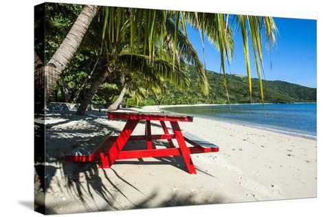 White Sandy Beach, Naviti, Yasawa, Fiji, South Pacific-Michael Runkel-Stretched Canvas Print