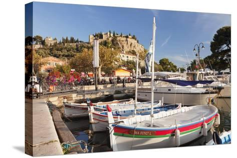 Fishing Boats at the Harbour, Southern France-Markus Lange-Stretched Canvas Print