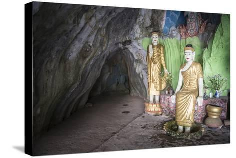 Cave Temple Near Mawlamyine, Mon State, Myanmar (Burma), Asia-Matthew Williams-Ellis-Stretched Canvas Print