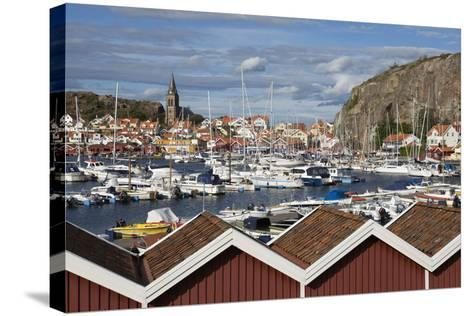 View over Harbour and Vetteberget Cliff, Fjallbacka, Bohuslan Coast, Southwest Sweden, Sweden-Stuart Black-Stretched Canvas Print