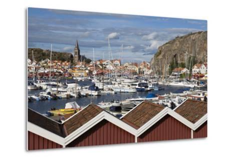 View over Harbour and Vetteberget Cliff, Fjallbacka, Bohuslan Coast, Southwest Sweden, Sweden-Stuart Black-Metal Print