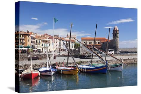 Traditional Fishing Boats at the Port, France-Markus Lange-Stretched Canvas Print