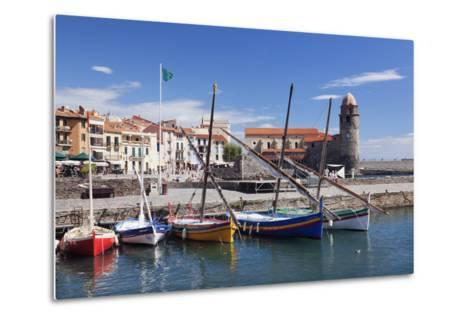 Traditional Fishing Boats at the Port, France-Markus Lange-Metal Print