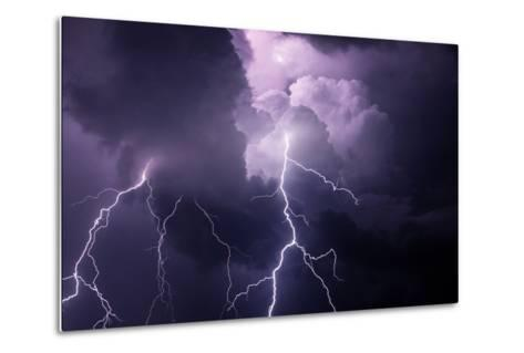USA, Tennessee. Composite of Cloud-To-Cloud Lightning Bolts-Jaynes Gallery-Metal Print