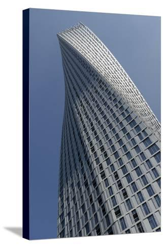 Infinity Tower Features 495 Apartments in a Helical Shape That Swivels 90 Degrees from Base to Top-Bruno Barbier-Stretched Canvas Print