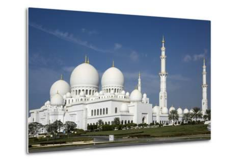 Sheikh Zayed Grand Mosque, Abu Dhabi, United Arab Emirates, Middle East-Rolf Richardson-Metal Print