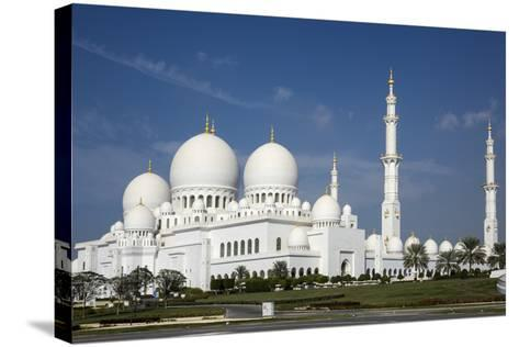 Sheikh Zayed Grand Mosque, Abu Dhabi, United Arab Emirates, Middle East-Rolf Richardson-Stretched Canvas Print