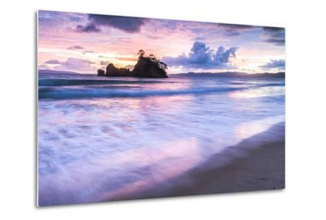 Pungapunga Island at Whangapoua Beach at Sunrise, Coromandel Peninsula, North Island, New Zealand-Matthew Williams-Ellis-Metal Print