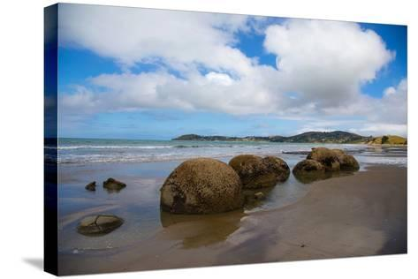 Moeraki Boulders, Koekohe Beach, Otago, South Island, New Zealand, Pacific-Suzan Moore-Stretched Canvas Print