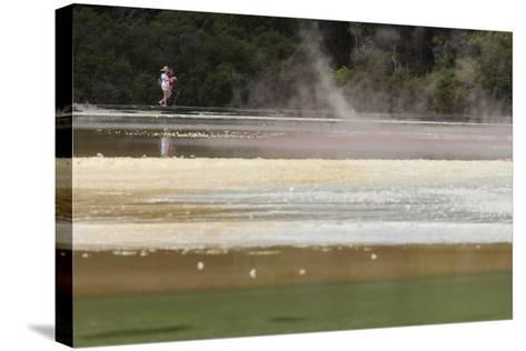 Champagne Pool, Hot Springs, Waiotapu Goethermal Wonderland, Rotorua, New Zealand, Oceania-Jeremy Bright-Stretched Canvas Print
