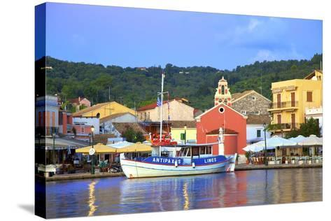 Gaios Harbour, Paxos, the Ionian Islands, Greek Islands, Greece, Europe-Neil Farrin-Stretched Canvas Print