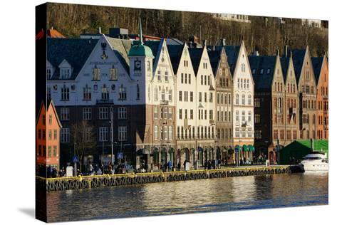 View on the Harbour in Bryygen Area, Bergen, Hordaland, Norway, Scandinavia, Europe-Robert Harding-Stretched Canvas Print
