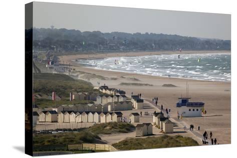 View over Plage De Riva Bella Beach, Ouistreham, Normandy, France, Europe-Stuart Black-Stretched Canvas Print