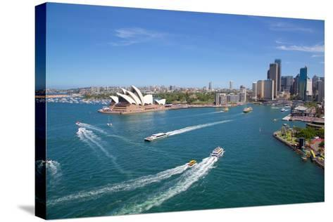Sydney Opera House and Harbour, Sydney, New South Wales, Australia, Oceania-Frank Fell-Stretched Canvas Print