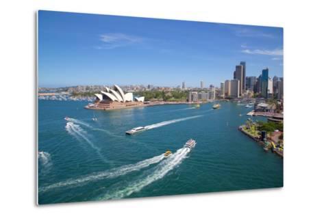 Sydney Opera House and Harbour, Sydney, New South Wales, Australia, Oceania-Frank Fell-Metal Print