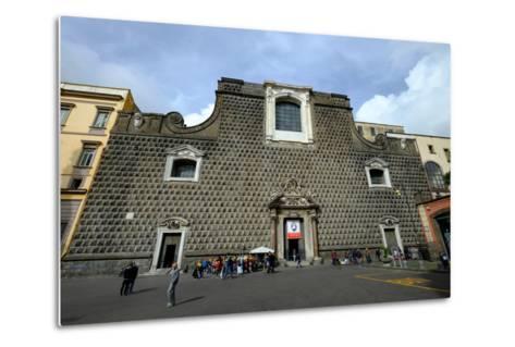Church of Gesu Nuovo, Naples, Campania, Italy, Europe-Carlo Morucchio-Metal Print